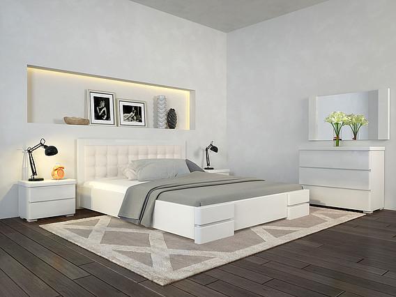Ліжко-Регіна-Люкс-білий-ARBOR-DREV