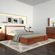 Ліжко-Регіна-Люкс-горіх-світлий-ARBOR-DREV