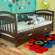 2-Дитяче-ліжко-Аліса-темний-горіх-ARBOR-DREV