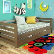 4-Дитяче-ліжко-Немо-з-висувною-шуфляжою-горіх-ARBOR-DREV