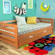 5-Дитяче-ліжко-Немо-з-висувною-шуфляжою-вільха-ARBOR-DREV