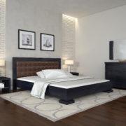 ARBORDREV-ліжко-Монако-венге-темний-